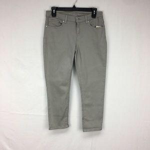 MICHAEL Michael Kors Grey Denim Cropped Jeans